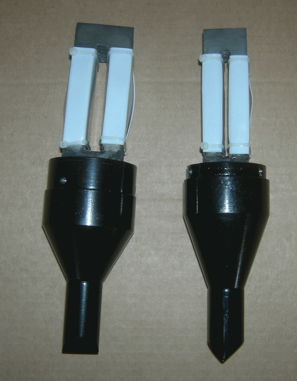 Magnetostrictive package of the TMS-40 transducer comparing to the TMS-30